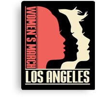 Womens March on Los Angeles Canvas Print