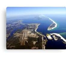 Aerial View of Airport Runway Canvas Print