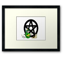 Faerie with Racing Snail and Pentacle Framed Print