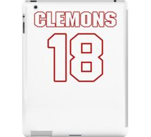 NFL Player Toney Clemons eighteen 18 iPad Case/Skin