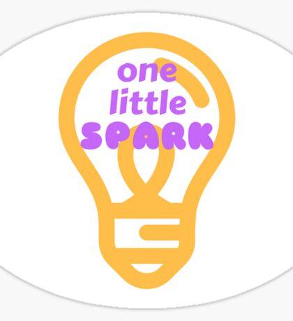 One Little Spark of Inspiration Sticker