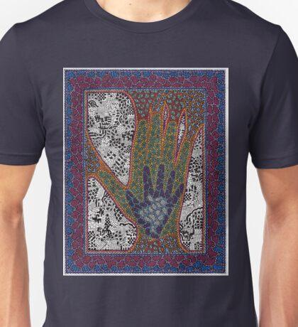 the hands of Gabriel Sanford and Rainier #5 Unisex T-Shirt