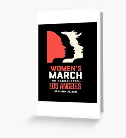 Womens March On Los Angeles Greeting Card