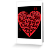 Love Maze Greeting Card