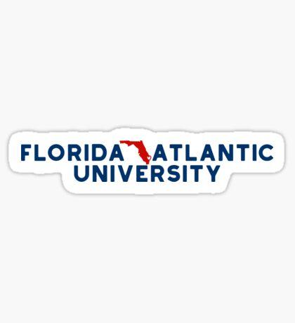 Florida Atlantic University - Style 19 Sticker