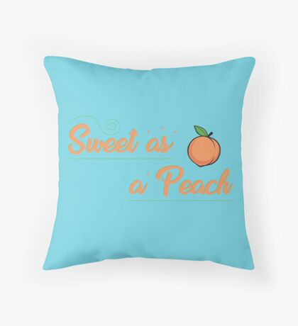 Sweet as a Peach Design Throw Pillow