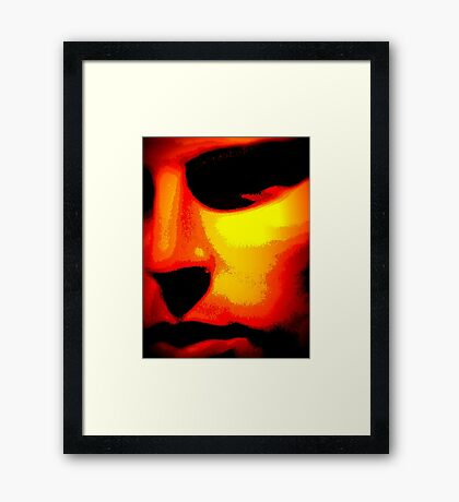 Abstract Male Face Framed Print