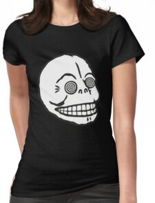 "Cheap Monday's ""Hypno Skull Cap"" (white) Womens Fitted T-Shirt"