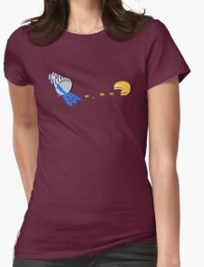 Retro Gaming Session -Pac burger- Womens Fitted T-Shirt