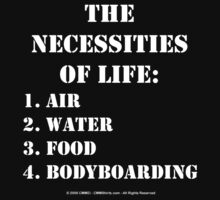 The Necessities Of Life: Bodyboarding - White Text by cmmei