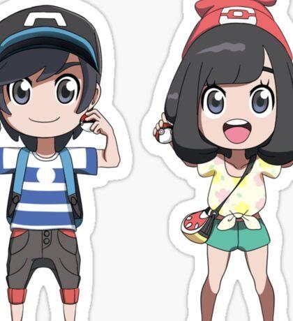 Pokemon Sun and moon trainers Sticker