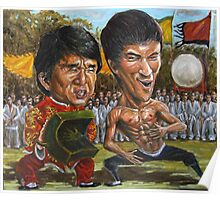 jackie chan and bruce lee Poster