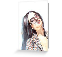 Fashion Illustration: fabric Greeting Card