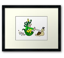 Racing Snail Faerie Framed Print