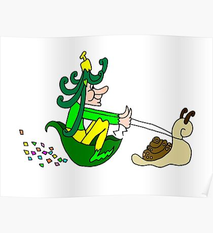 Racing Snail Faerie Poster