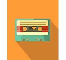 Orange Retro Mixtape Photographic Print