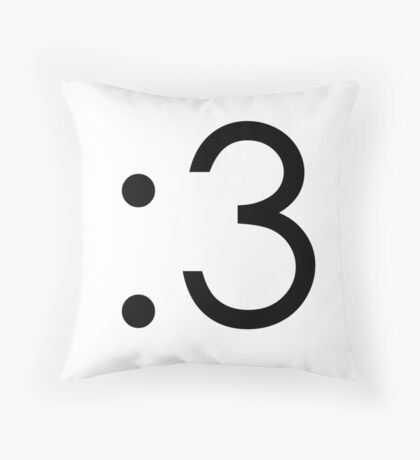 Emoji - Cute Face Throw Pillow