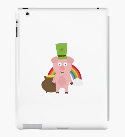 Pig with Patricks Day Hat iPad Case/Skin