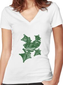 Frog Women's Fitted V-Neck T-Shirt