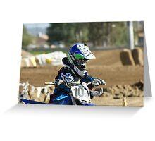 MX Mud Tap!  Ooops! Didn't check helmet; Perris, CA, Perris MX March 2009, (573 Views as of 5-16-11) Greeting Card