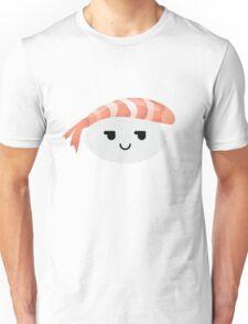 Shrimp Nigiri Sushi Emoji Cheeky and Up to Something Unisex T-Shirt