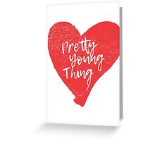 Pretty Young Thing Heart Greeting Card