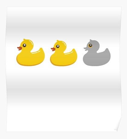 Duck Duck Gray Duck T Shirts Funny Duck Shirts Poster