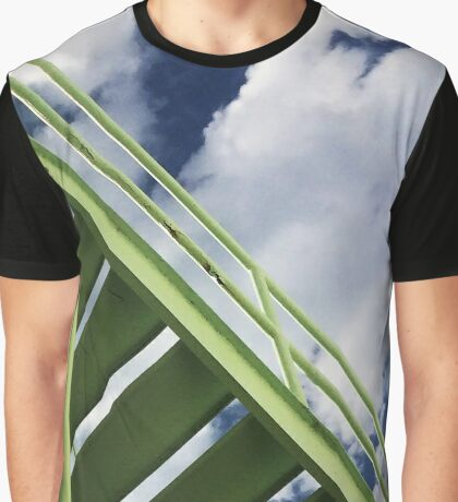 Green to Blue Graphic T-Shirt