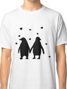 Penguins In Love - Love Each Other Penguins- penguin shirt Classic T-Shirt