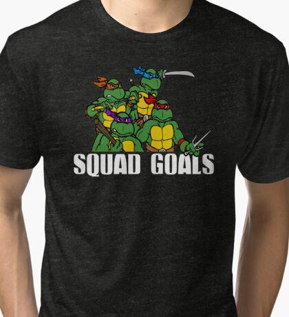 Funny Squad Goals Tri-blend T-Shirt