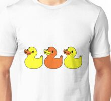 Three Rubber Ducks Duckies Funny Duck Shirts Unisex T-Shirt