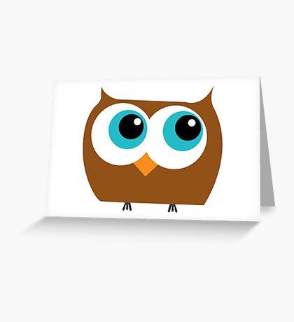 Cartoon Owl Greeting Card