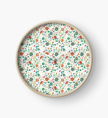 Scattered Flowers Clock