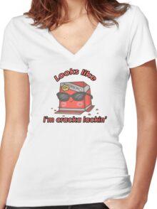 Cool/Cute Cracker Box Women's Fitted V-Neck T-Shirt