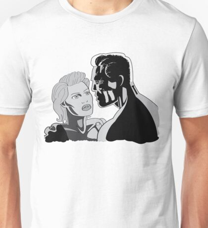 Couple - Black and White Unisex T-Shirt