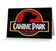 canine park Greeting Card