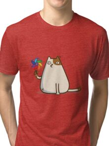 Friday Cat №10 Cat Shirt Funny Tri-blend T-Shirt