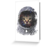 Grunge Astronaut Cat Cat Shirt Funny Greeting Card