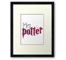 Mrs Potter Version 2 Framed Print