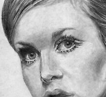 Pretty face - Twiggy by Derek Michael Brennan