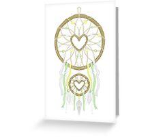 White Dreamcatcher Greeting Card