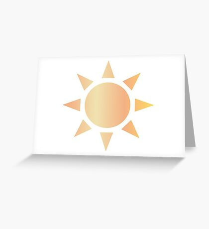 Sun Greeting Card