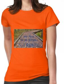 Path Womens Fitted T-Shirt