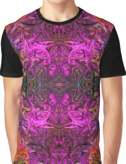 Neon Purple Psychedelic Graphic T-Shirt