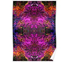 Neon Purple Psychedelic Poster