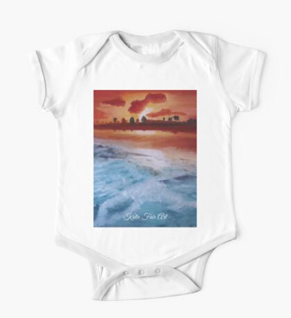 Beach Sunset One Piece - Short Sleeve