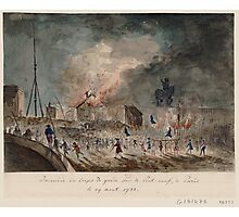 Fire on the Pont Neuf in Paris - 1788 Photographic Print