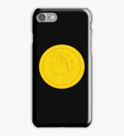Bowser coin iPhone Case/Skin