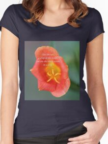 Drop in the ocean Women's Fitted Scoop T-Shirt