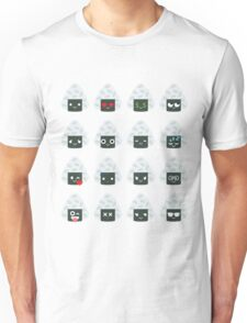 Onigiri Rice Ball Emoji Different Facial Expression Unisex T-Shirt
